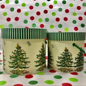 Famous Spode Christmas Tree Gift/Treat Boxes